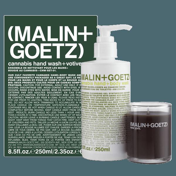 Cannabis Hand/Body Wash & Votive Gift Set